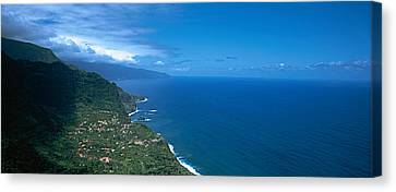 High Angle View Of A Coastline Canvas Print by Panoramic Images