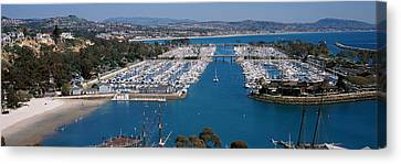 High Angle View Of A Harbor, Dana Point Canvas Print by Panoramic Images