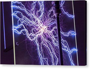 High Voltage Electrical Discharge Canvas Print by David Parker