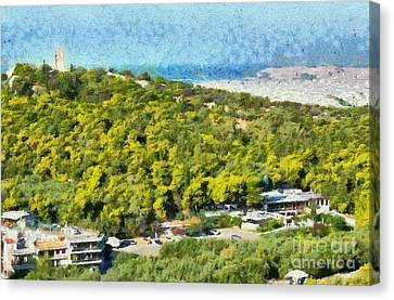 Athens Canvas Print - Hill Of Philopappos  by George Atsametakis