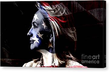 Democrats Canvas Print - Hillary 2016 by Marvin Blaine