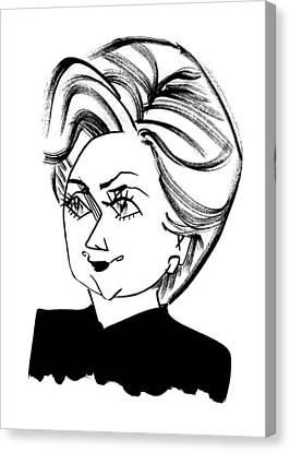 Hillary Clinton Canvas Print by Tom Bachtell