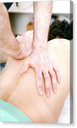 Hip Injury Physiotherapy Canvas Print by Thomas Fredberg