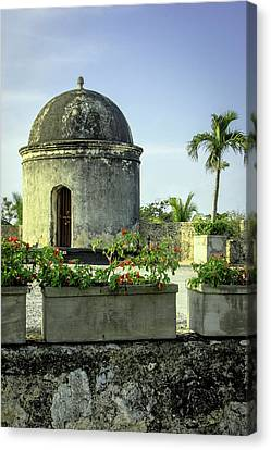 Cartagena Canvas Print - Historic Spanish Colonial Walls by Jerry Ginsberg
