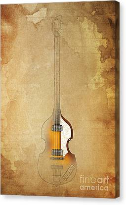 Hofner Bass - Paul Mccartney Bass Canvas Print