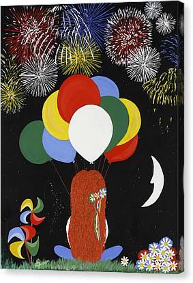 Holiday Magic Canvas Print by Nathalie Sorensson