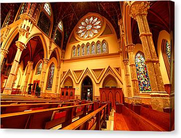 Canvas Print featuring the photograph Holy Name Cathedral by Linda Edgecomb