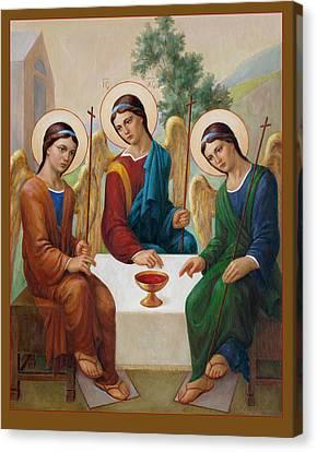 Canvas Print featuring the painting Holy Trinity - Sanctae Trinitatis by Svitozar Nenyuk