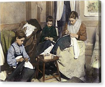 Home Industry, C1910 Canvas Print by Granger