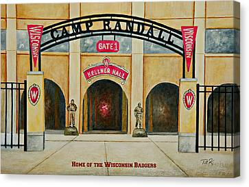Home Of The Badgers Canvas Print by Thomas Kuchenbecker