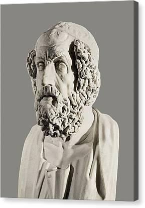 Homer 9th Century  Bc. Greek Writer Canvas Print