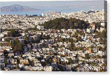 Homes Of San Francisco Canvas Print by B Christopher