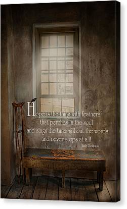 Crutch Canvas Print - Hope by Robin-Lee Vieira