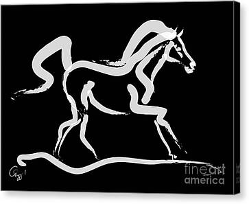 Horse-runner Canvas Print