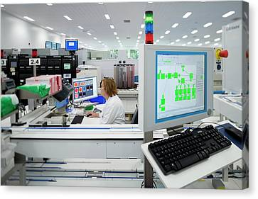 Pathology Canvas Print - Hospital Pathology Lab by Aberration Films Ltd