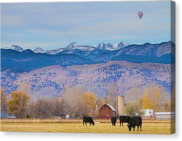 Rocky Mountain Canvas Print - Hot Air Balloon Rocky Mountain Country View by James BO  Insogna