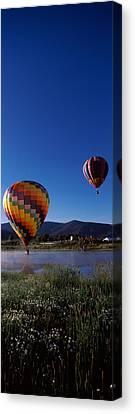 Hot Air Balloons Rising, Hot Air Canvas Print by Panoramic Images