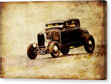 Hot Rod Ford Canvas Print by Steve McKinzie