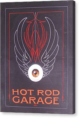 Hot Rod Garage Canvas Print
