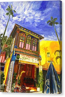 House Of The Rising Palms Canvas Print by Belinda Low