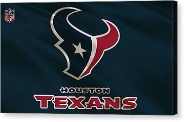 Houston Texans Uniform Canvas Print by Joe Hamilton
