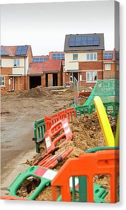 Hutton Rise Housing Development Canvas Print by Ashley Cooper