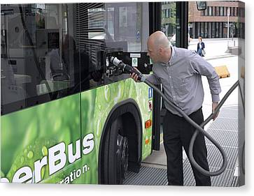 Hydrogen Fuel Cell Bus Canvas Print by Science Photo Library