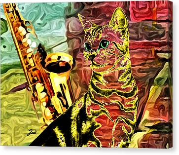 Jazz Canvas Print by Ze  Di