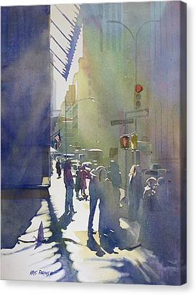 I Saw The Light At 44th And Broadway Canvas Print by Kris Parins