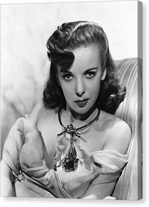 Ida Lupino, Warner Bros. Portrait Canvas Print