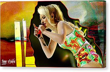 Iggy Azalea Canvas Print by Marvin Blaine