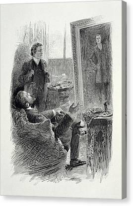 Illustration From The Picture Of Dorian Canvas Print by Paul Thiriat