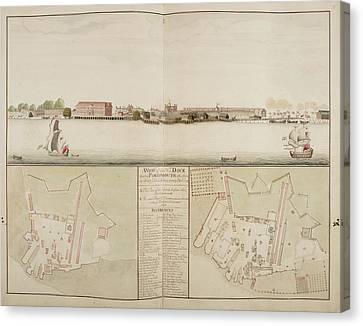 Illustration Of Portsmouth Harbour Canvas Print