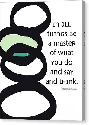 Health Canvas Print - In All Things by Linda Woods