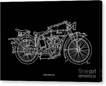 Indian V Twin 1914 Canvas Print by Pablo Franchi
