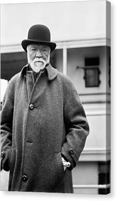 Industrialist Andrew Carnegie Canvas Print by Underwood Archives