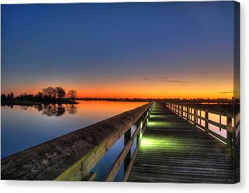 Inlet Sunrise Canvas Print by Ed Roberts