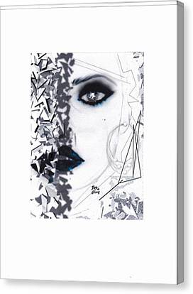 Canvas Print featuring the drawing Insight by Desline Vitto