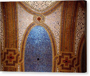 Interior Detail Of Tiffany Dome Canvas Print by Panoramic Images