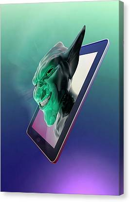 Internet Troll Canvas Print by Victor Habbick Visions