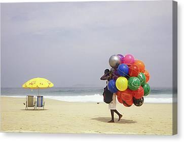 Ipanema Beach, Rio De Janiero,, Brazil Canvas Print by Kevin Berne