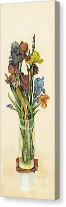 irises in Vase Canvas Print