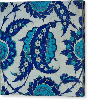 Iznik Tile Canvas Print by Celestial Images