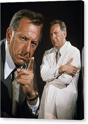 Jack Klugman In Quincy M.e.  Canvas Print