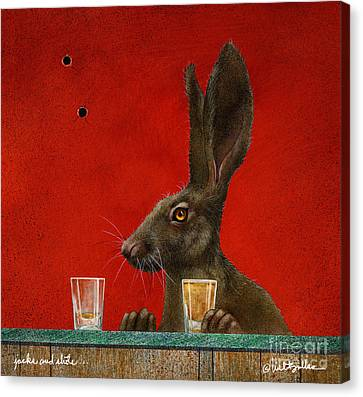 Jacks And Shots... Canvas Print by Will Bullas