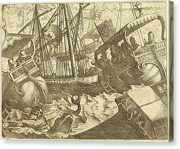 Jacques Callot French, 1592 - 1635, Storm Off The Coast Canvas Print by Quint Lox