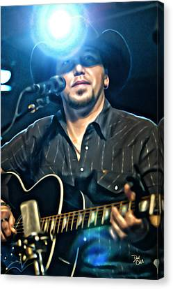 Jason Aldean Canvas Print by Don Olea
