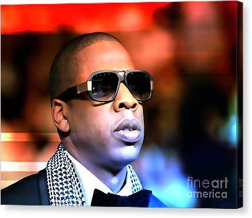 Jay Z Canvas Print by Marvin Blaine