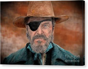 Jeff Bridges As U.s. Marshal Rooster Cogburn In True Grit  Canvas Print by Jim Fitzpatrick