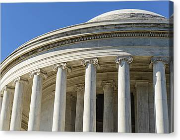 Jefferson Memorial In Washington Dc Canvas Print by Brandon Bourdages